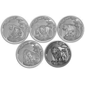 Silbermünzset Silverline Löwe