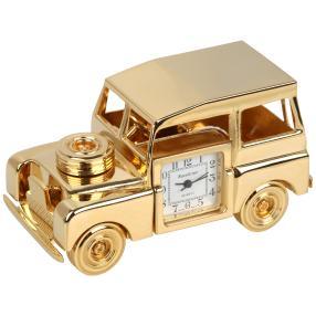 """Miniatur-Tischuhr """"Oldtimer"""" goldfarben"""