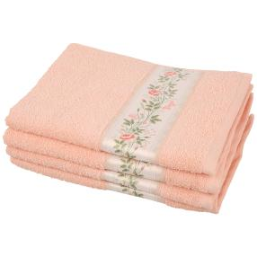 Handtuch Rosenbordüre 4tlg. apricot