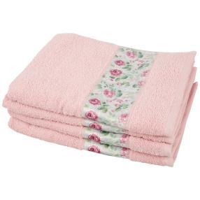 Handtuch Rosen 4tlg. rosé