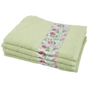 Handtuch Rosen 4-teilig, lindgrün