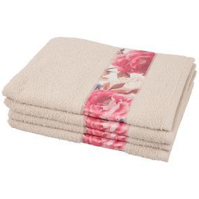 Handtuch Bordüre 4tlg. creme