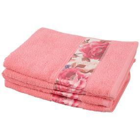 Handtuch Bordüre 4-teilig, rosa