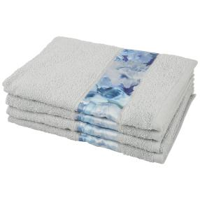 Handtuch Bordüre 4tlg. silber