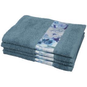 Handtuch Bordüre 4tlg. blau