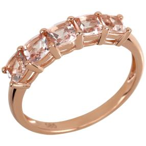 Ring 585 Roségold, Morganit