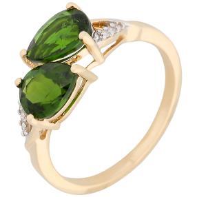 Ring 585 Gelbgold Chromdiopsid