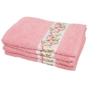 Handtuch Blumen 4tlg. rosa