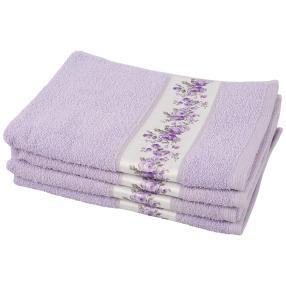 Handtuch Rosen 4tlg. flieder