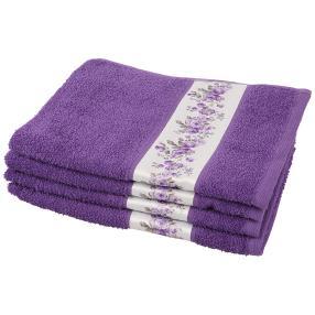 Handtuch Rosen 4tlg. lila