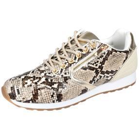 MONSHOE Damen Sneaker, beige, braun, gold