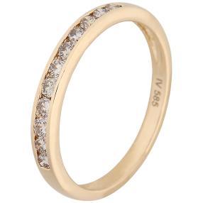 Ring 585 Gelbgold mit Brillanten, champagner