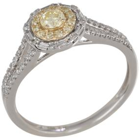 Ring 585 Weißgold Diamanten