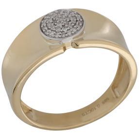 Ring 585 Gelbgold/Weißgold Diamanten