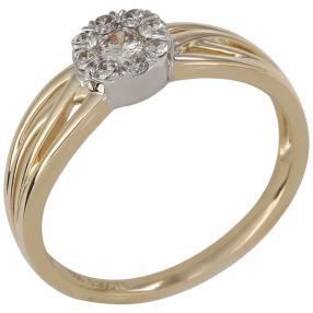 Ring 585 Gelbgold/Weißgold Brillanten