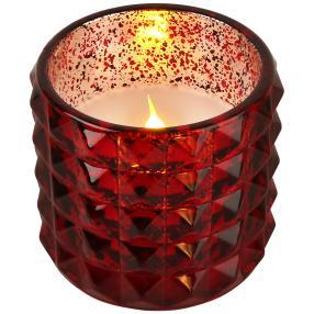 LED-Kerze Effektglas rot