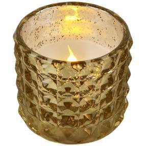 LED-Kerze Effektglas gold