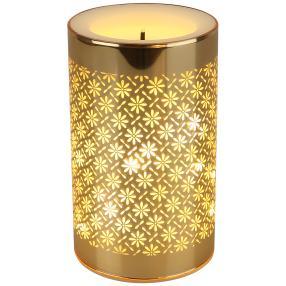 LED-Kerze Glas gold