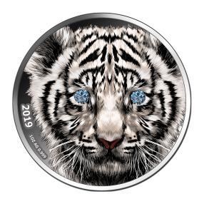 Tiger mit blauen Diamantaugen