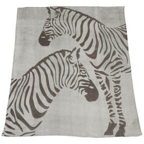 Kuscheldecke Zebra, grau