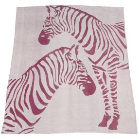 Kuscheldecke Zebra, lila