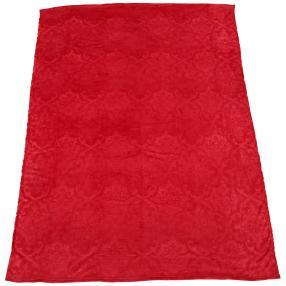 Kuscheldecke Ornamentprägung, rot
