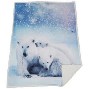 Sherpa-Decke Eisbären, 130 x 170 cm