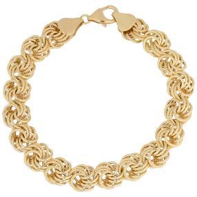 Armband Rosendesign 585 Gelbgold