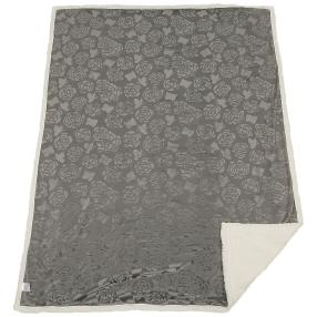 Lammimitat-Decke Rosen 150x200cm grau