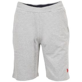 U.S. POLO ASSN. Herren-Sweat-Short grau