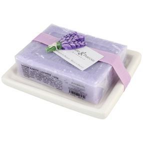 Lavendelseife auf Keramikschale 100 g