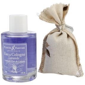 Lavendel Set Lavendelsäckchen & Eau de Cologne
