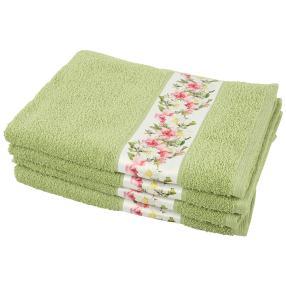 Handtuch Blumen 4tlg. grün