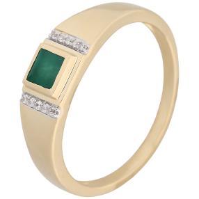 Ring 585 Gelbgold Sakota Smaragd