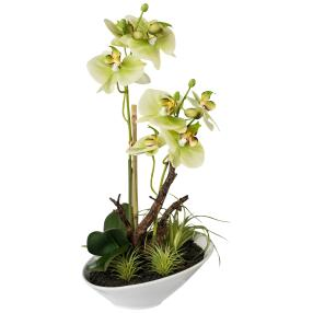 Orchideen-Arrangement grün, real-touch  36 cm