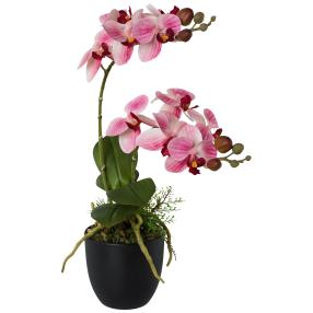 Orchidee 42cm realtouch rosa im Topf