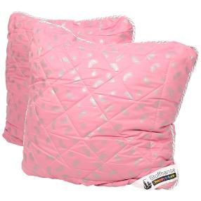 Stoffhanse Kissen 80 x 80 cm, rosé-silber