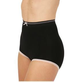 Damen-Slip seamless mit Schleife & Spitze schwarz