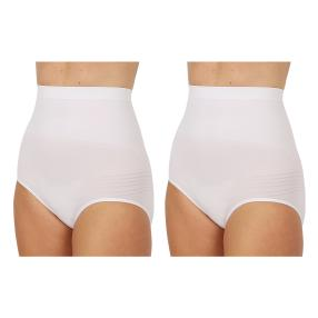 2erPack Damen-Form-Slip 'Super High Waist' weiß