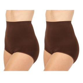 2erPack Damen-Form-Slip 'Super High Waist' braun