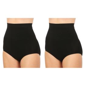 2erPack Damen-Form-Slip 'Super High Waist' schwarz
