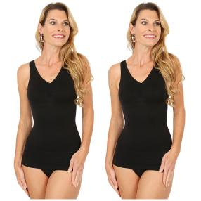 2er Pack Damen-Form-Hemd schwarz