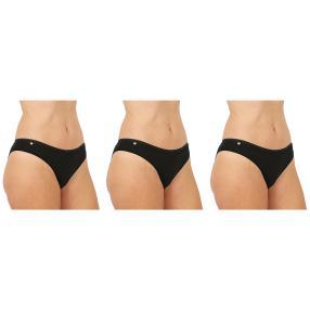 3er Pack Damen-Baumwoll-Slip  schwarz