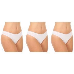 3er Pack Damen-Baumwoll-Slip  weiß