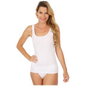 Damen-Baumwoll-Trägerhemd weiß