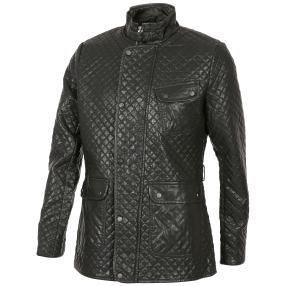 Sportliche Herren-Kunstleder-Jacke schwarz