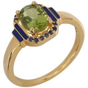 Ring 925 Sterling Silber vergoldet Peridot