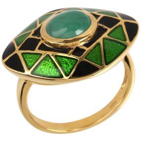 Ring 925 Silber vergoldet Sakota Smaragd