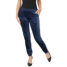 FASHION NEWS Wellness-Hose Strickbündchen blau