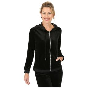 FASHION NEWS Kapuzenjacke 'Relaxed' schwarz